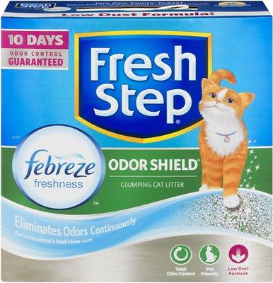Fresh Step Odor Shield Clumping Cat Litter, 25-lb box