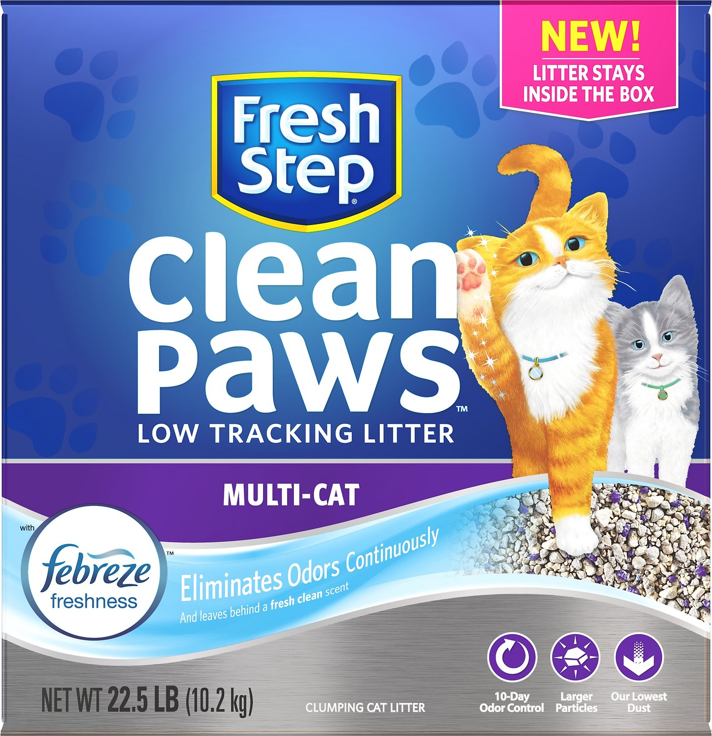 Fresh Step Clean Paws Multi-Cat Low Tracking Cat Litter Image