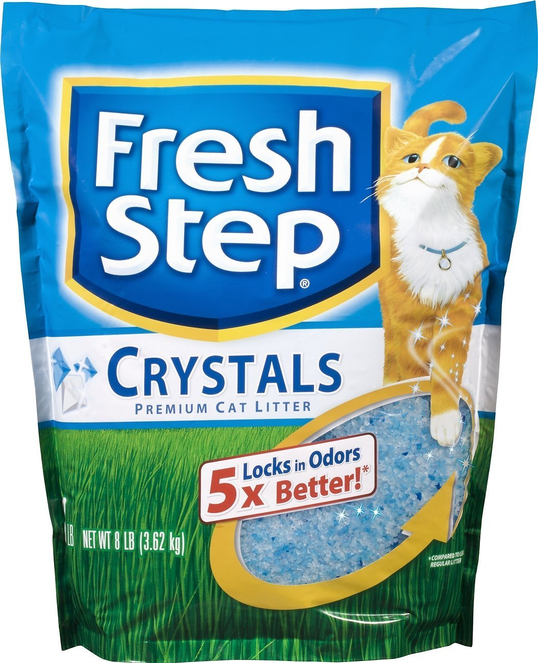 Fresh Step Crystals Cat Litter, 8-lb bag (Weights: 8.0pounds) Image