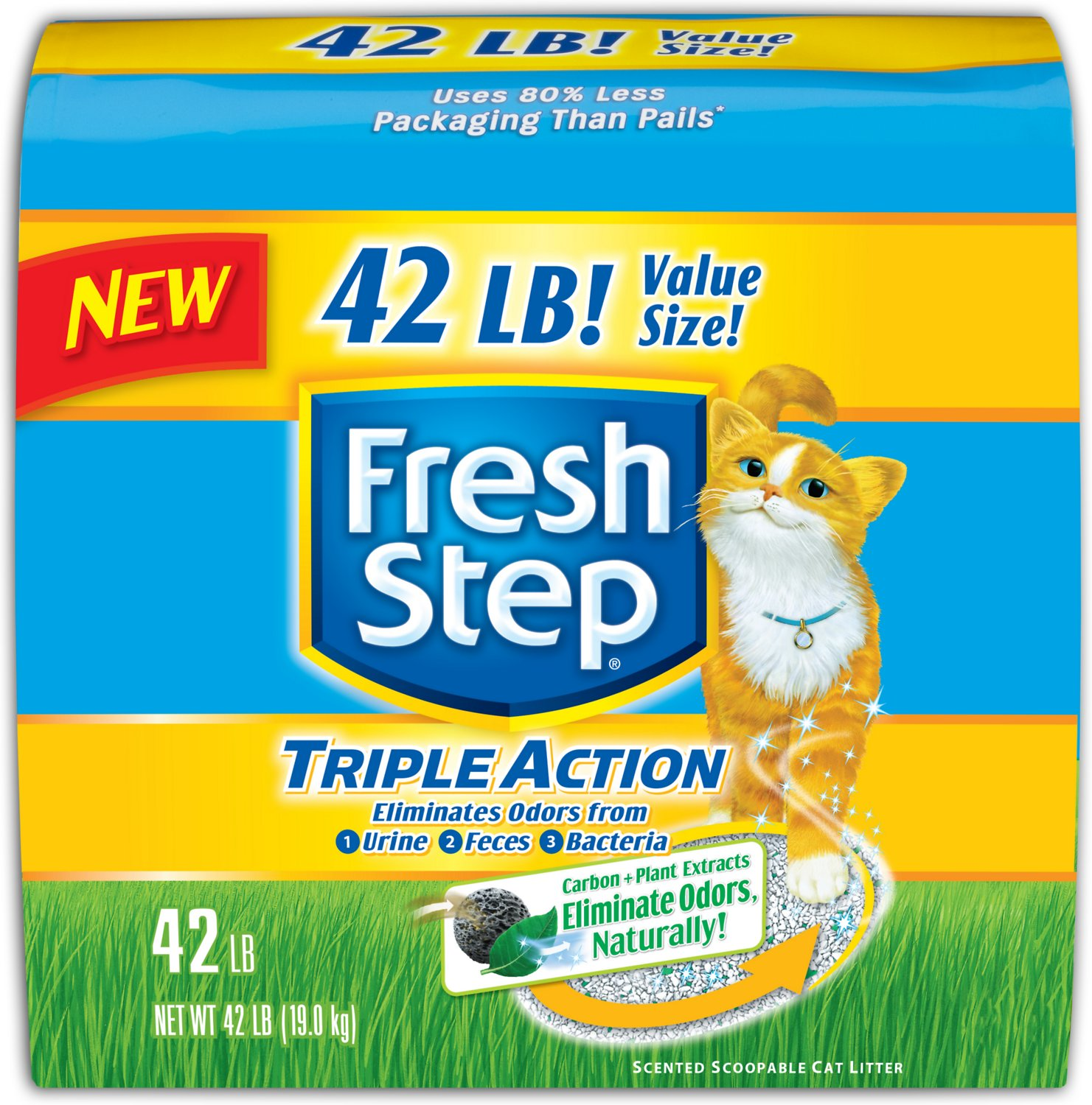 Fresh Step Triple Action Scented Clumping Cat Litter Image
