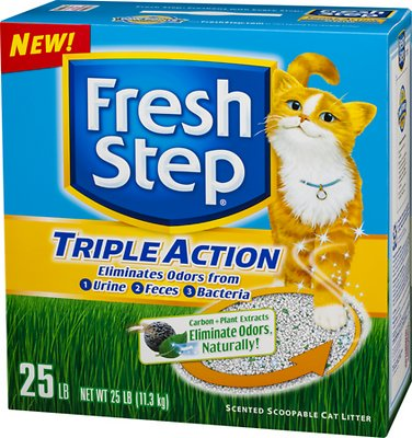 Fresh Step Triple Action Scented Clumping Cat Litter, 25-lb box