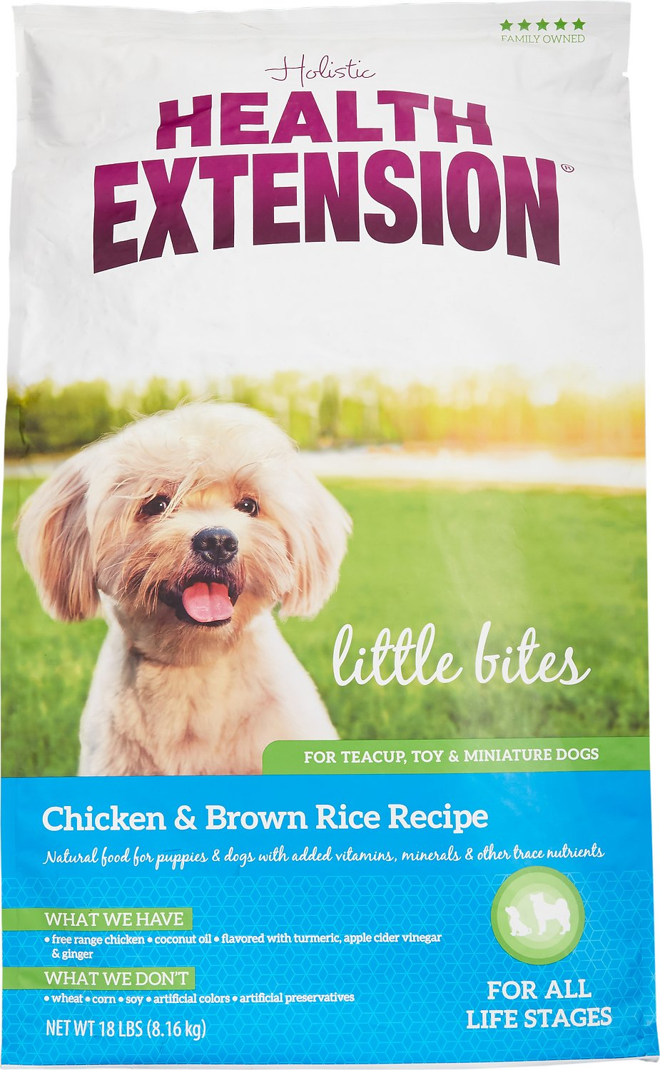 Health Extension Little Bites Chicken & Brown Rice Recipe Dry Dog Food Image