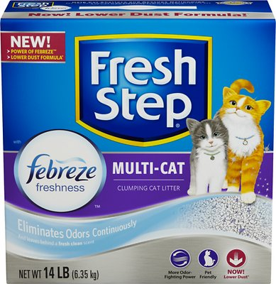 Fresh Step Multiple Cat Scoopable Clumping Cat Litter, 14-lb box