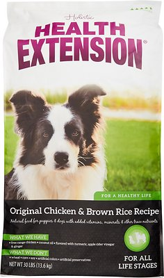 Health Extension Original Chicken & Brown Rice Recipe Dry Dog Food, 30-lb