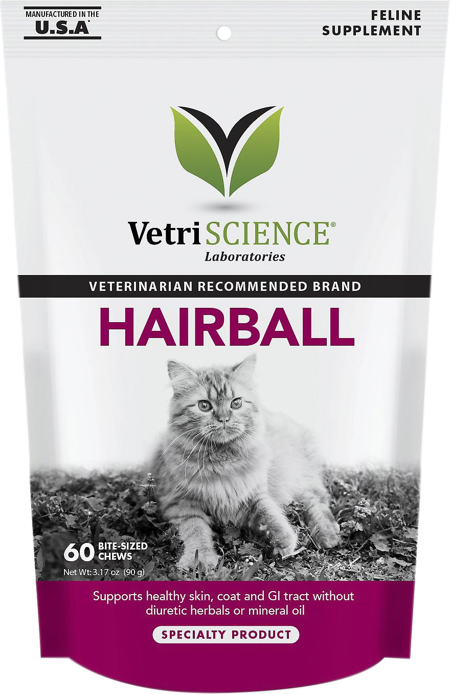 VetriScience Hairball Bite-Sized Cat Chews, 60 count Image