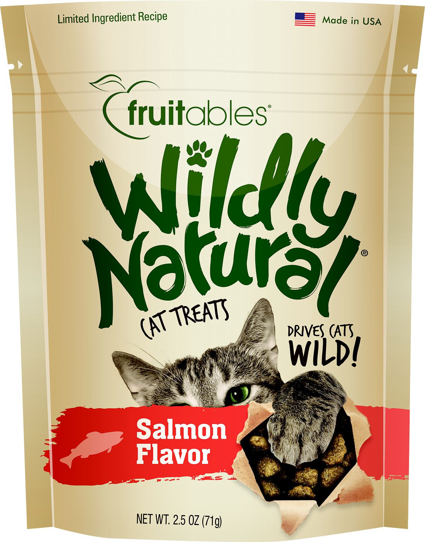 Fruitables Wildly Natural Salmon Flavor Cat Treats, 2.5-oz bag