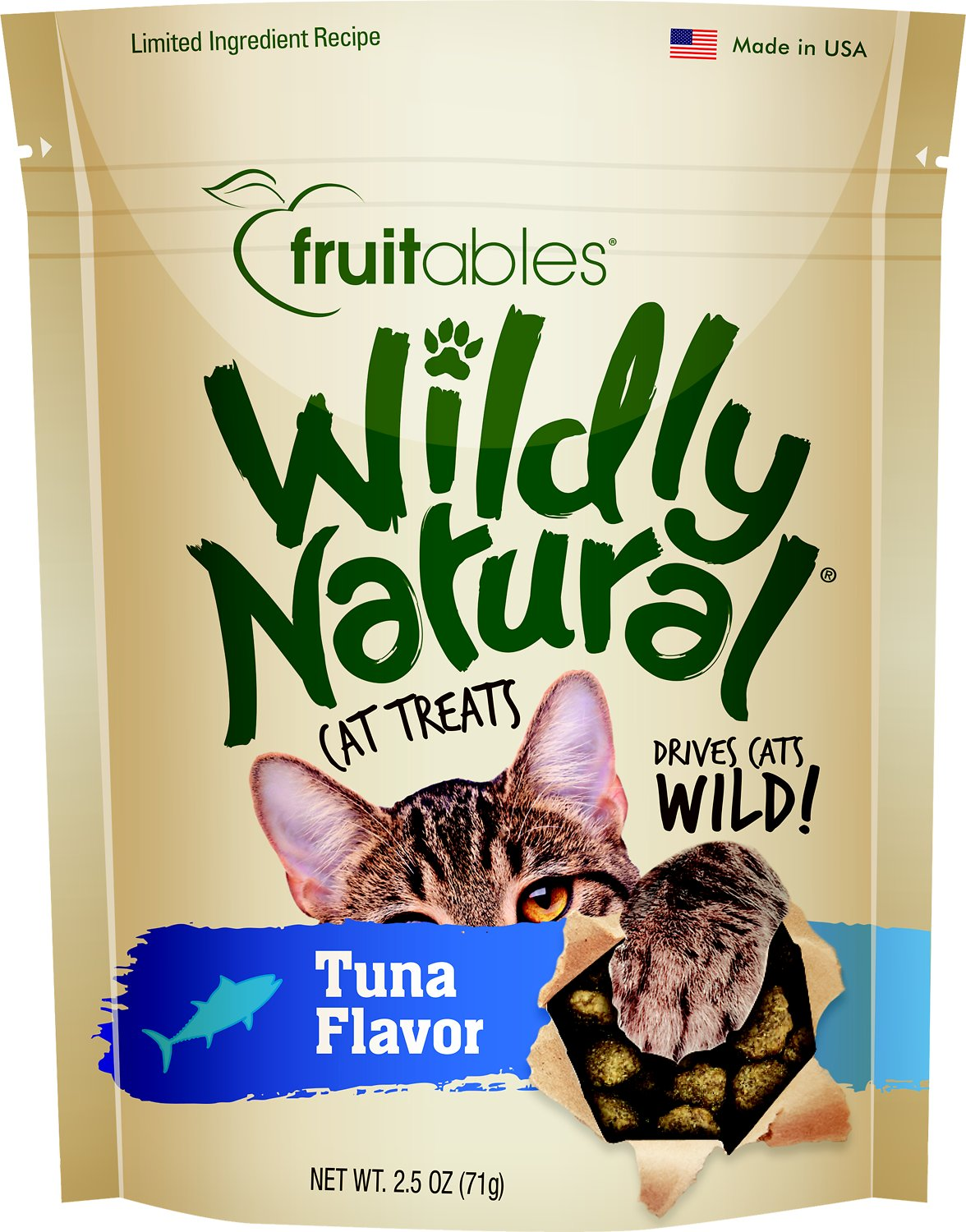 Fruitables Wildly Natural Tuna Flavor Cat Treats, 2.5-oz bag (Weights: 2.56ounces) Image