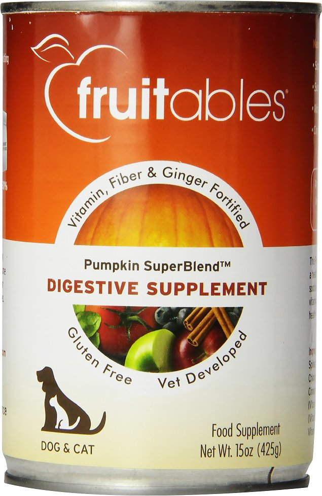 Fruitables Pumpkin and Ginger SuperBlend Digestive Dog & Cat Supplement, 15-oz