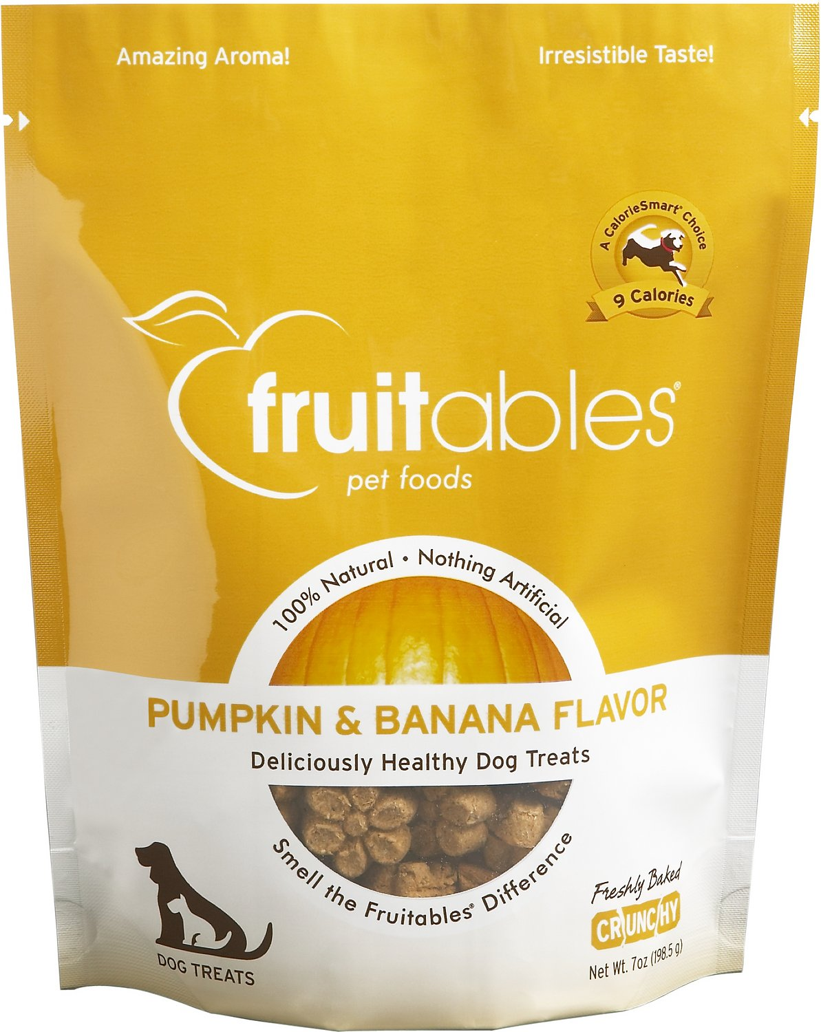 Fruitables Pumpkin & Banana Flavor Crunchy Dog Treats, 7-oz bag