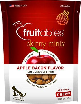 Fruitables Skinny Minis Apple Bacon Flavor Soft & Chewy Dog Treats, 12-oz bag