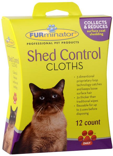 FURminator Shed Control Cat Cloths, 12-count box Image