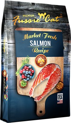 Fussie Cat Market Fresh Salmon Recipe Grain-Free Dry Cat Food, 4-lb bag