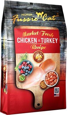 Fussie Cat Market Fresh Chicken & Turkey Recipe Grain-Free Dry Cat Food, 10-lb bag