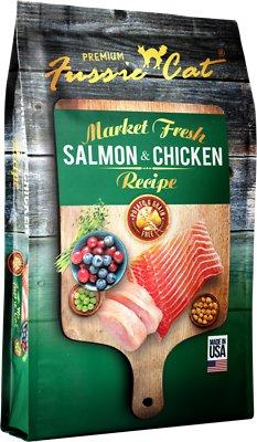 Fussie Cat Market Fresh Salmon & Chicken Recipe Grain-Free Dry Cat Food, 4-lb bag