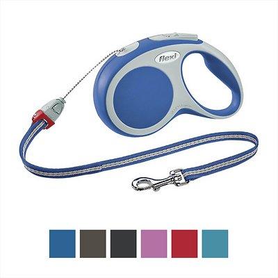 Flexi Vario Retractable Cord Dog Leash, Blue, Small, 16-ft