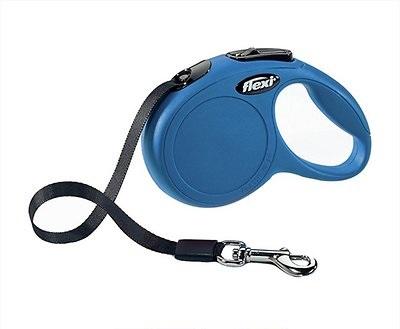 Flexi New Classic Retractable Tape Dog Leash, Blue, Small, 16-ft