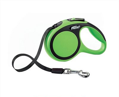 Flexi New Comfort Retractable Tape Dog Leash, Green, Large, 26-ft