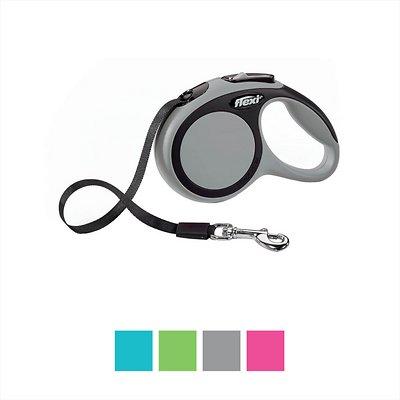 Flexi New Comfort Retractable Tape Dog Leash, Grey, Small, 16-ft