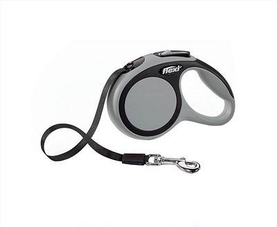 Flexi New Comfort Retractable Tape Dog Leash, Grey, Medium, 16-ft