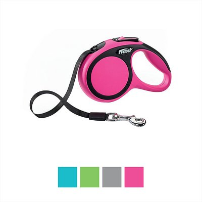 Flexi New Comfort Retractable Tape Dog Leash, X-Small, 10-ft