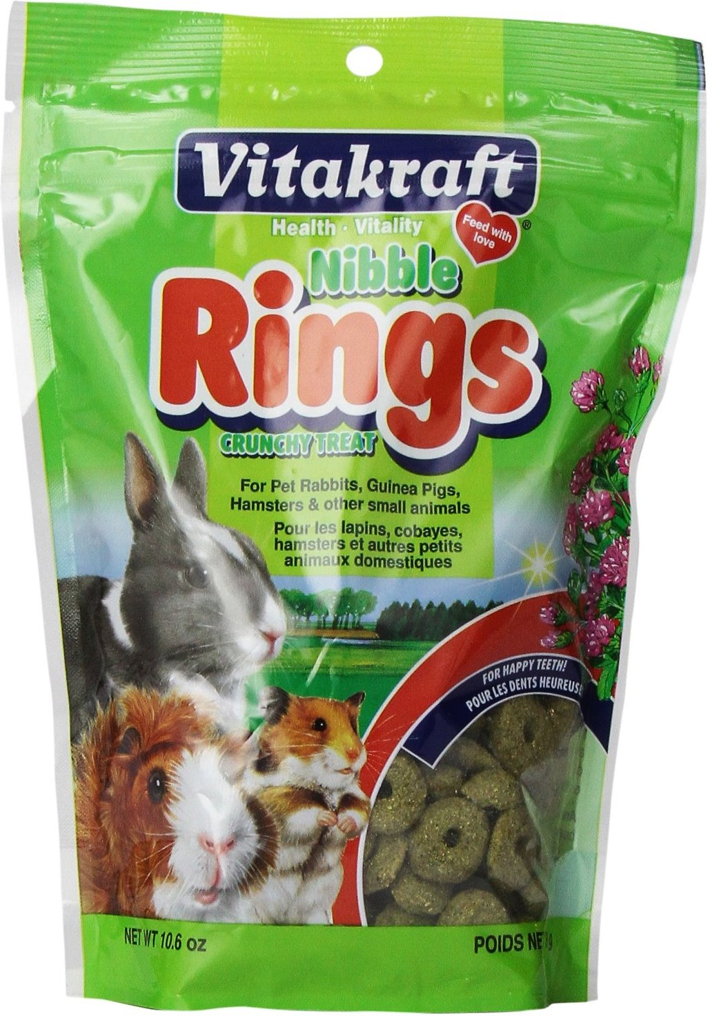 Vitakraft Nibble Rings Crunchy Small Animal Treats, 10.6-oz bag