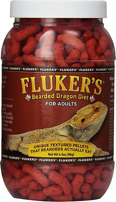 Fluker's Adult Bearded Dragon Diet Reptile Food, 3.4-oz jar