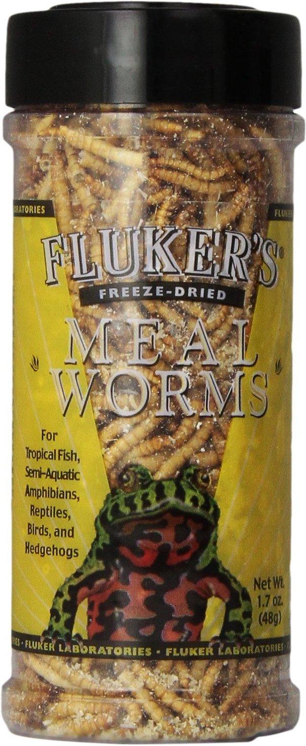Fluker's Freeze-Dried Mealworms Reptile Treats, 1.7-oz jar