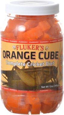 Fluker's Orange Cube Complete Cricket Diet Reptile Supplement, 12-oz jar