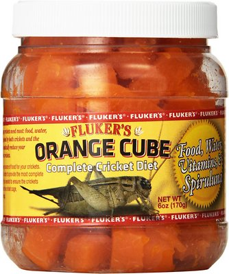 Fluker's Orange Cube Complete Cricket Diet Reptile Supplement, 6-oz jar