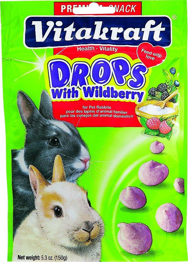 Vitakraft Drops with Wildberry Rabbit Treats, 5.3-oz bag