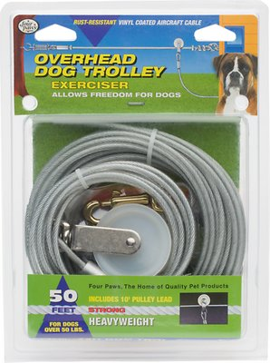 Four Paws Heavy Weight Overhead Trolley Exerciser, 50-ft