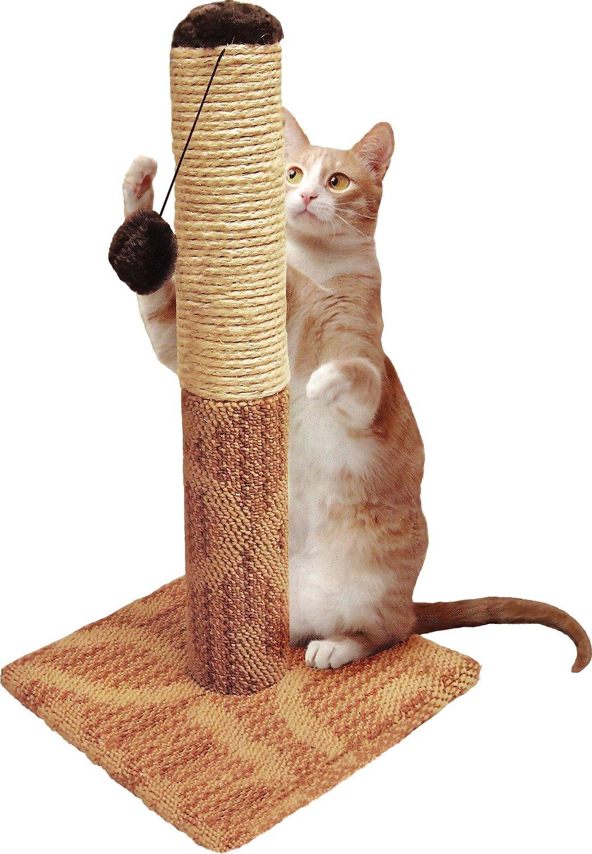 "Four Paws Super Catnip 21"" Tall Carpet & Sisal Scratching Post Image"