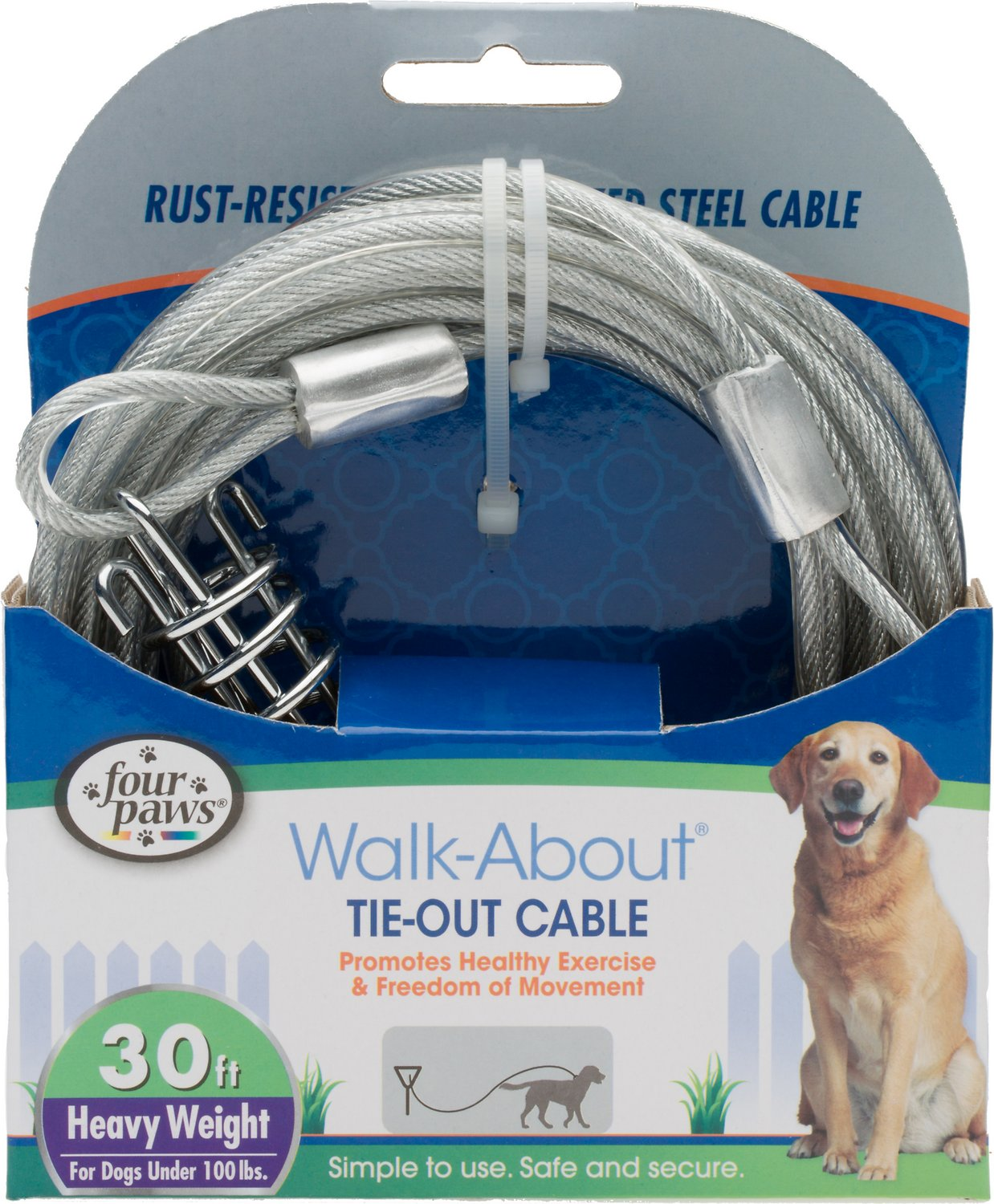 Four Paws Heavy Weight Tie Out Cable Image