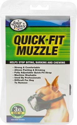 Four Paws Quick Fit Dog Muzzle, Size 3XL
