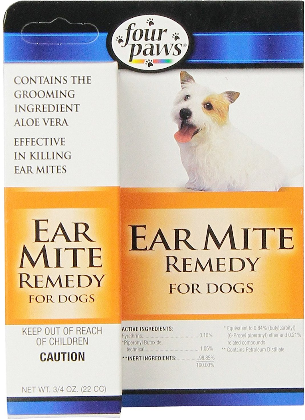 Four Paws Ear Mite Dog Remedy, 0.75-oz
