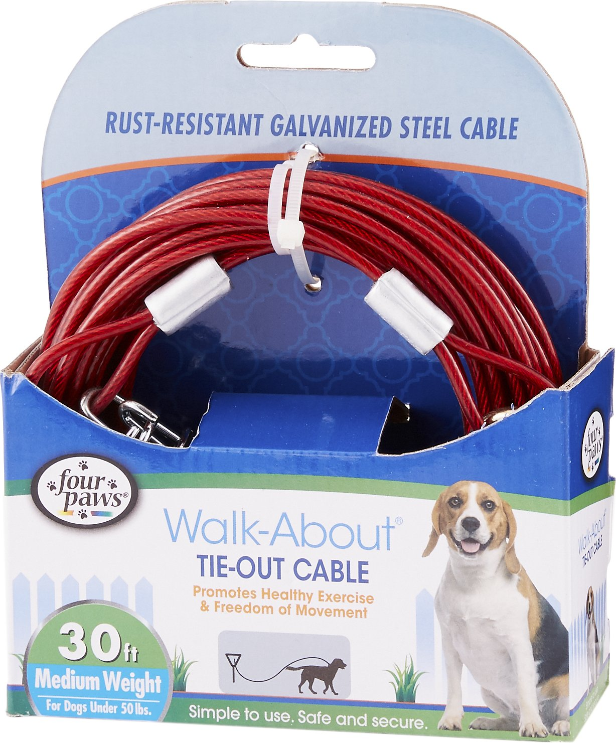 Four Paws Medium Weight Tie Out Cable Image