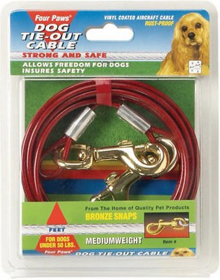 Four Paws Medium Weight Tie Out Cable, 10-ft