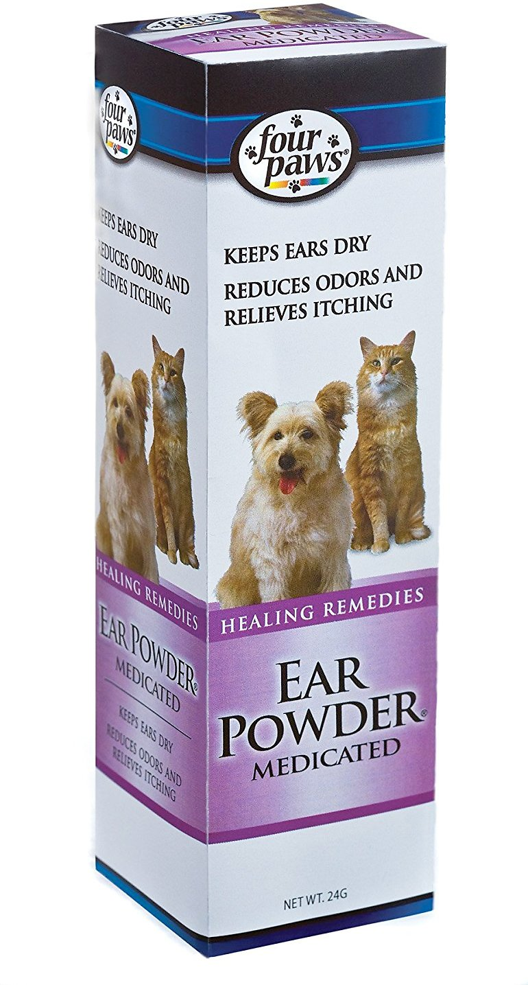Four Paws Medicated Ear Powder for Dogs & Cats, 24-g