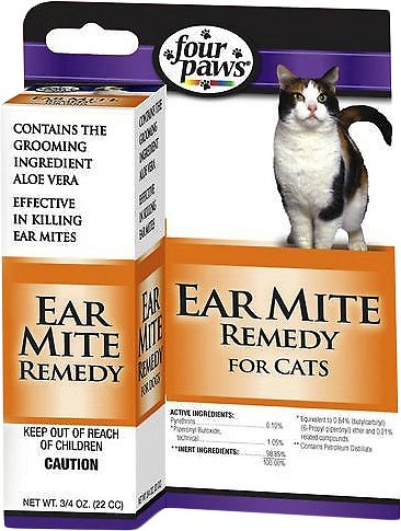 Four Paws Ear Mite Cat Remedy, 0.75-oz