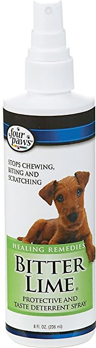 Four Paws Dog & Cat Bitter Lime Deterrent Spray, 8-oz (Weights: 8 oz) Image