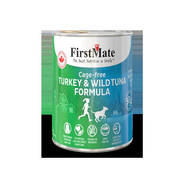 FirstMate 50/50 Turkey & Tuna Grain-Free Canned Dog Food, 12.2-oz