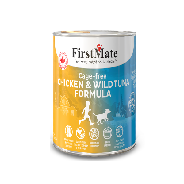 FirstMate 50/50 Chicken & Tuna Grain-Free Canned Dog Food, 12.2-oz