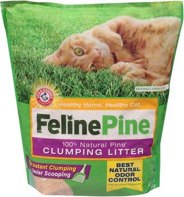 Feline Pine Scoop Clumping Cat Litter, 8-lb bag