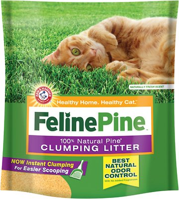 Feline Pine Scoop Clumping Cat Litter, 14-lb bag