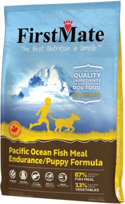 FirstMate Endurance/Puppy Pacific Ocean Fish Meal Limited Ingredient Diet Grain-Free Dry Dog Food, 28.6-lb