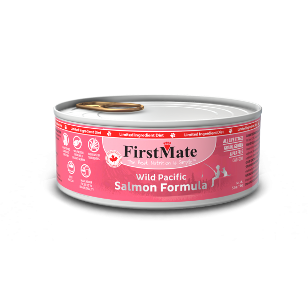 FirstMate Salmon Limited Ingredient Grain-Free Canned Cat Food, 5.5-oz