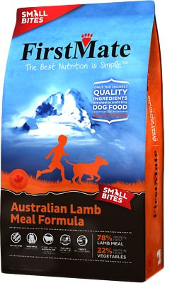 FirstMate Small Bites Australian Lamb Meal Limited Ingredient Diet Grain-Free Dry Dog Food, 14.5-lb