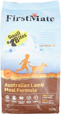 FirstMate Small Bites Australian Lamb Meal Limited Ingredient Diet Grain-Free Dry Dog Food, 5-lb