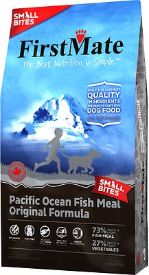 FirstMate Small Bites Pacific Ocean Fish Meal Original Limited Ingredient Diet Grain-Free Dry Dog Food, 14.5-lb