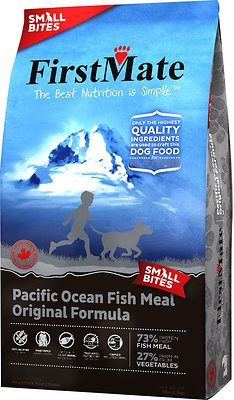 FirstMate Small Bites Pacific Ocean Fish Meal Original Limited Ingredient Diet Grain-Free Dry Dog Food, 5-lb